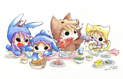 Let's eat!! (Tetra Style)